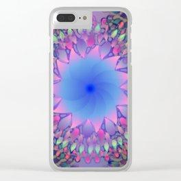 Hippie Starburst Mandala Clear iPhone Case