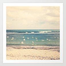 Swan Sea Art Print