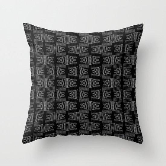 black undulation Throw Pillow