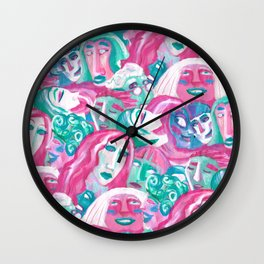 Bright crowd Wall Clock