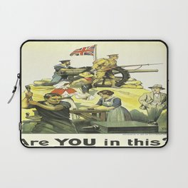 Vintage poster - Are YOU in this? Laptop Sleeve