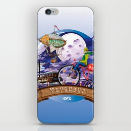 Around The World Colorful Poster Illustration iPhone Skin