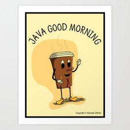 Java Good Morning - Coffee (Earth 1084) Art Print
