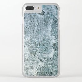Texture of stone Clear iPhone Case