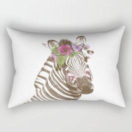 Zebra with flowers Rectangular Pillow