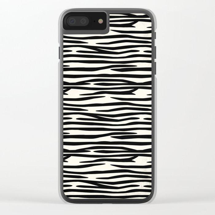 Zebra Stripes Clear iPhone Case