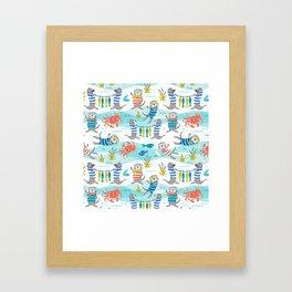 Otterly Fun Framed Art Print