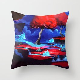 World is Breaking Throw Pillow