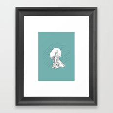 Relieve your Stress - aqua Framed Art Print