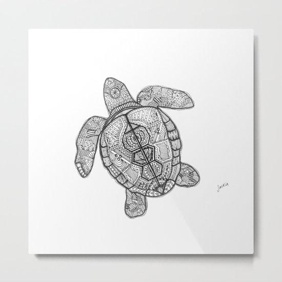 Sharpie Turtle Metal Print