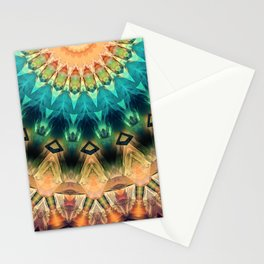 Colorful Abstract Sun Stationery Cards