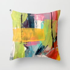 Hopeful[2] - a bright mixed media abstract piece Throw Pillow