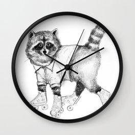 Roller Raccoon Wall Clock