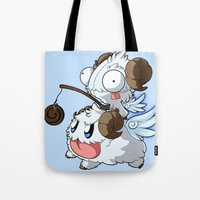 invader zim Tote Bags featuring Invader Poro Pix by HelloTwinsies