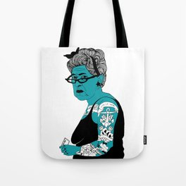 Tattoo Lady colour by Emilythepemily Tote Bag