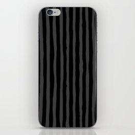 Black and Grey Stripe iPhone Skin