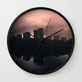 Sleeping in the dark Wall Clock