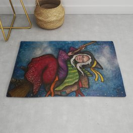 Holiday La Befana the Christmas Witch Rug