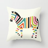 code Throw Pillows featuring Magic code by Andy Westface