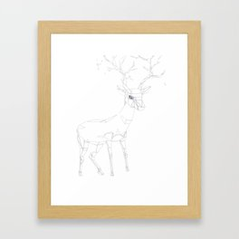 Geo Stag Framed Art Print