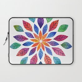 Rainbow Leaves Laptop Sleeve