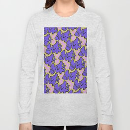Stay Graffiti Pattern - Purple Groove Long Sleeve T-shirt