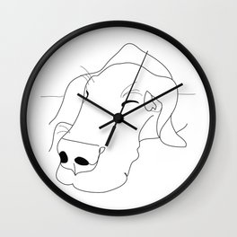 Great Dane Sketch Wall Clock