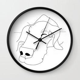 Great Dane dog b/w face Wall Clock