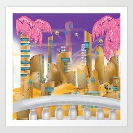 City in the Desert Art Print