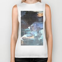broadway Biker Tanks featuring Midnight Broadway East No.46 by Xi By Xi Chen