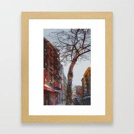 Clinton Street Xmas Framed Art Print