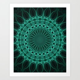 Pretty malachite mandala Art Print