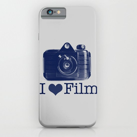 I ♥ Film (Grey/Navy) iPhone & iPod Case
