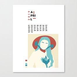 Calendar 2019 April Canvas Print