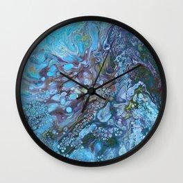 Organic Blues Wall Clock
