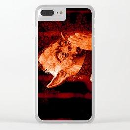 DalaiYOda - RED Clear iPhone Case