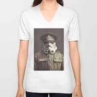 military V-neck T-shirts featuring Sgt. Stormley  by Terry Fan