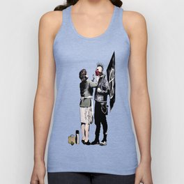 Banksy - Anarchist And Mother Unisex Tank Top