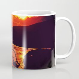 African River Sunset Leopard Coffee Mug