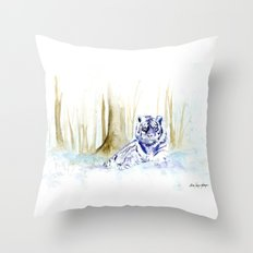 Frost Tiger Throw Pillow
