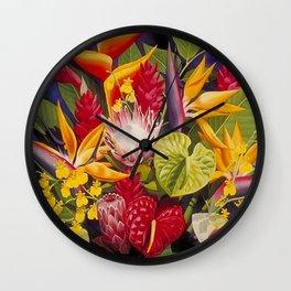 Tropical Arrangement #2 Wall Clock