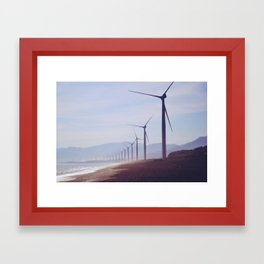 Changes with the wind Framed Art Print