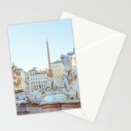Piazza Navona - Rome Italy Photography Stationery Cards