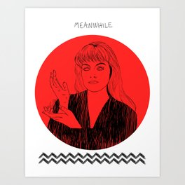 Laura Palmer MEANWHILE Twin Peaks Art Print