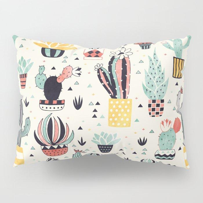 Cacti in a Flower Pot Pillow Sham