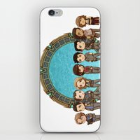 stargate iPhone & iPod Skins featuring Cast of Stargate Atlantis by Ravenno