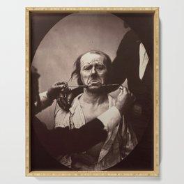 Duchenne de Boulogne Emotion Portrait Serving Tray