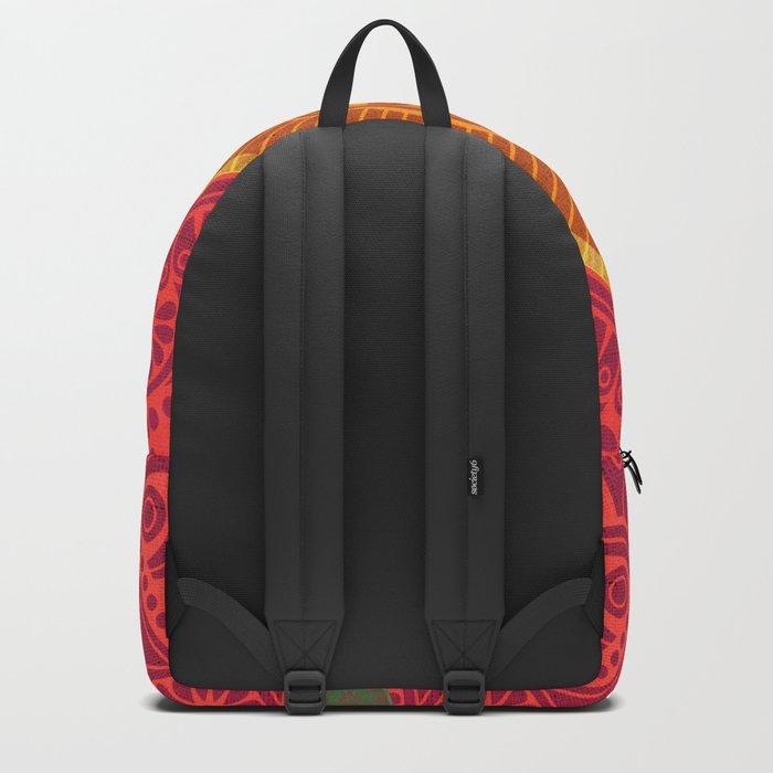 """""""Fuchsia and Gold Mandala"""" Backpack"""