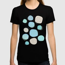 Abstract Circles in Blue and Pink T-shirt