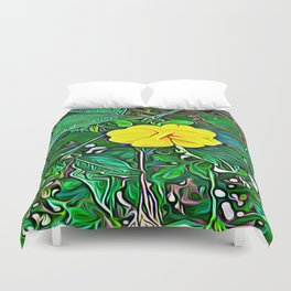 Yellow Flower of Expanded Frequency Duvet Cover